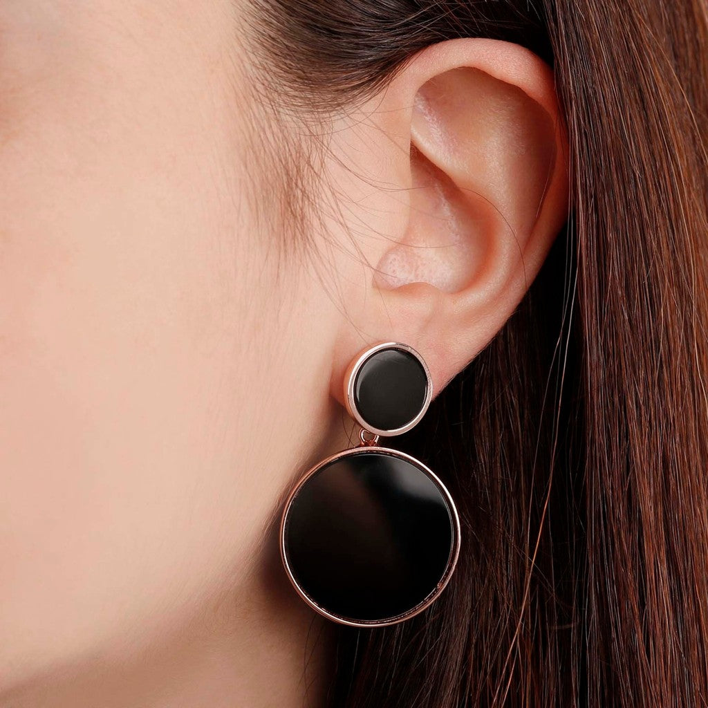 worn Disc earrings