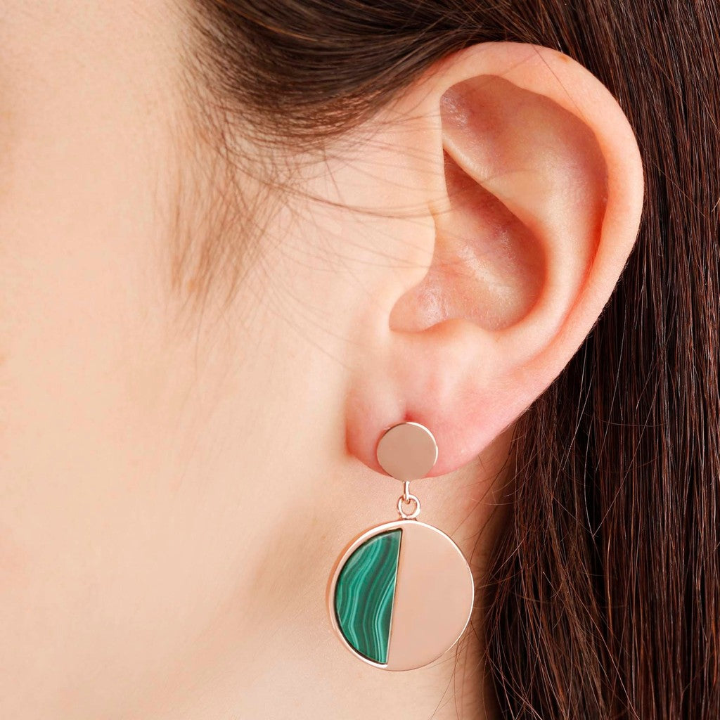 worn Two tone earrings