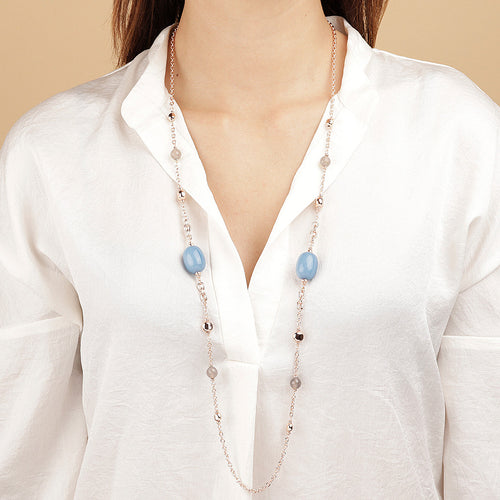 Bronzallure | Necklaces | Long Necklace with Blue Quartz