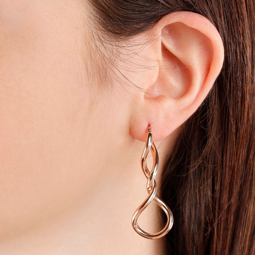 worn Wire Dangle Earrings