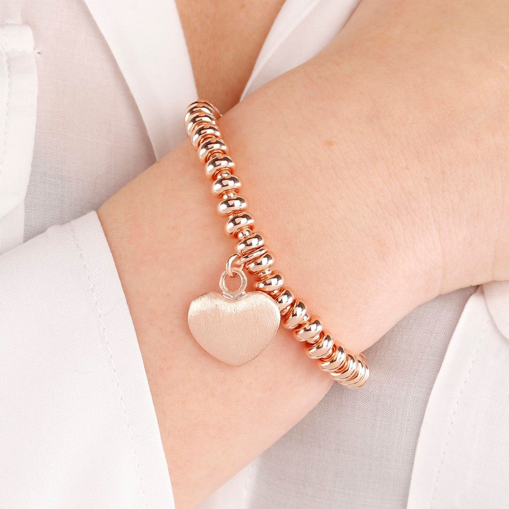 worn bracelet with heart