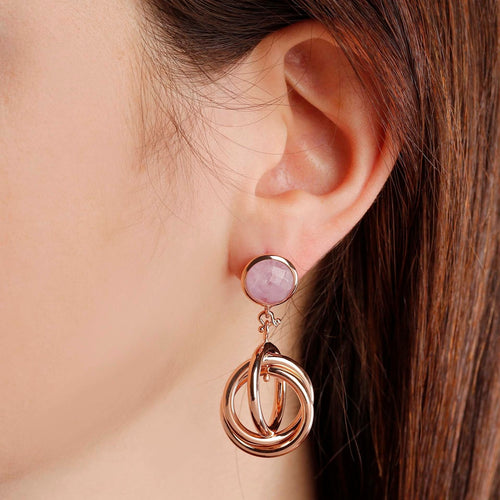 worn circle dangle earrings