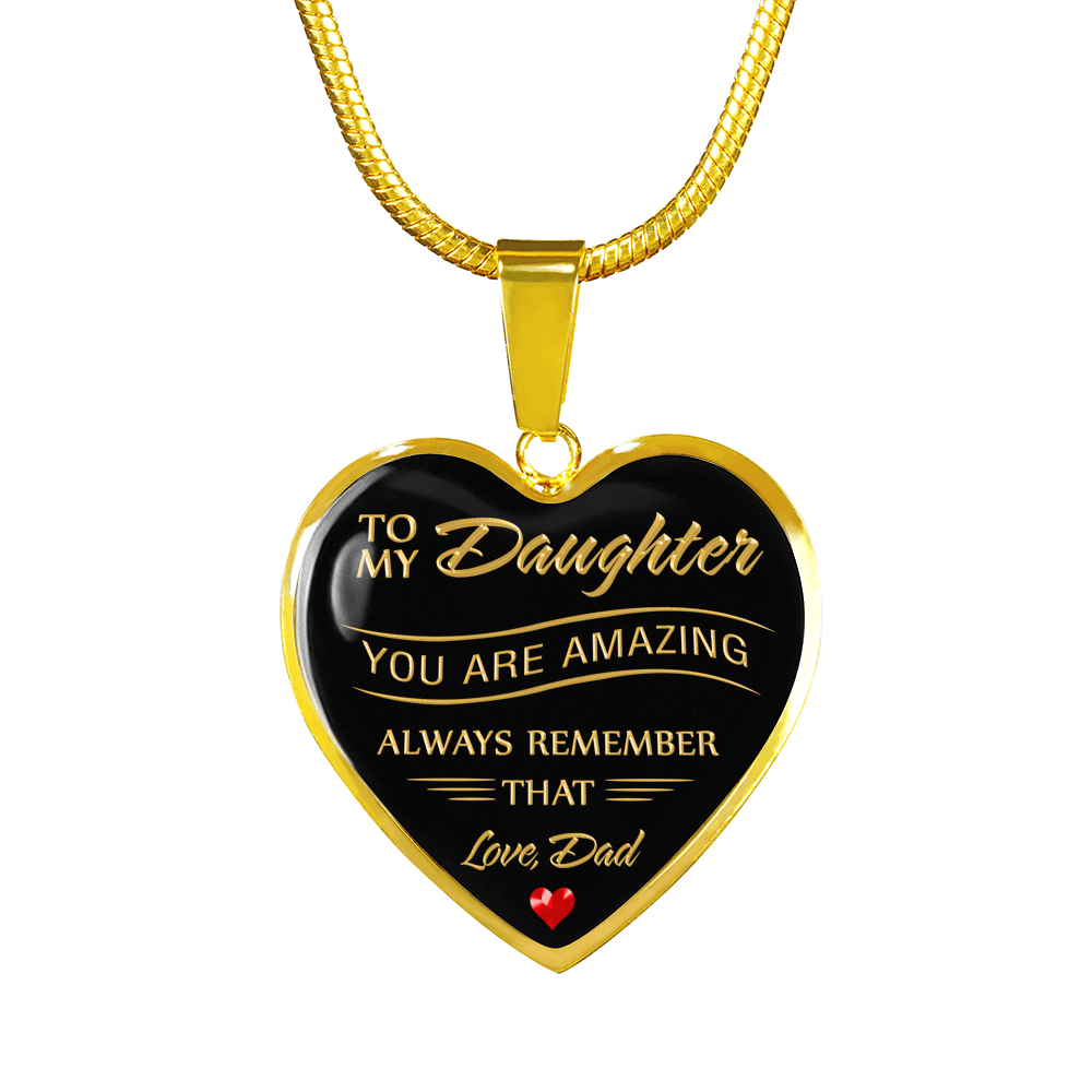 To my daughter you are amazing 18k gold pendant necklace babzzi to my daughter you are amazing 18k gold pendant necklace aloadofball Gallery