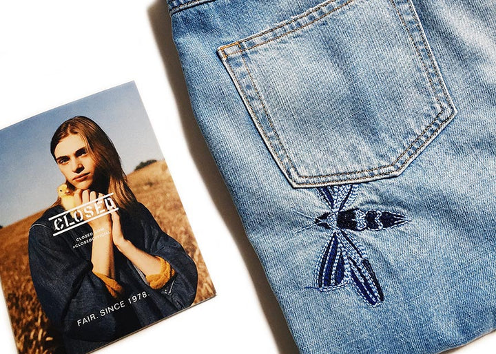 Closed denim with butterfly
