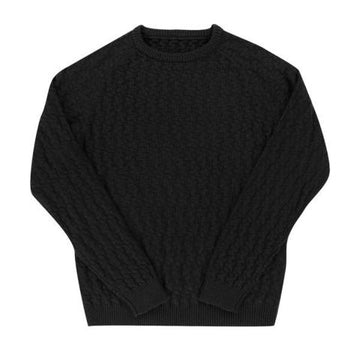 Aloha Sunday,  Sweaters & Outerwear,  Aloha Sunday Relief Sweater Black, - Coast Modern