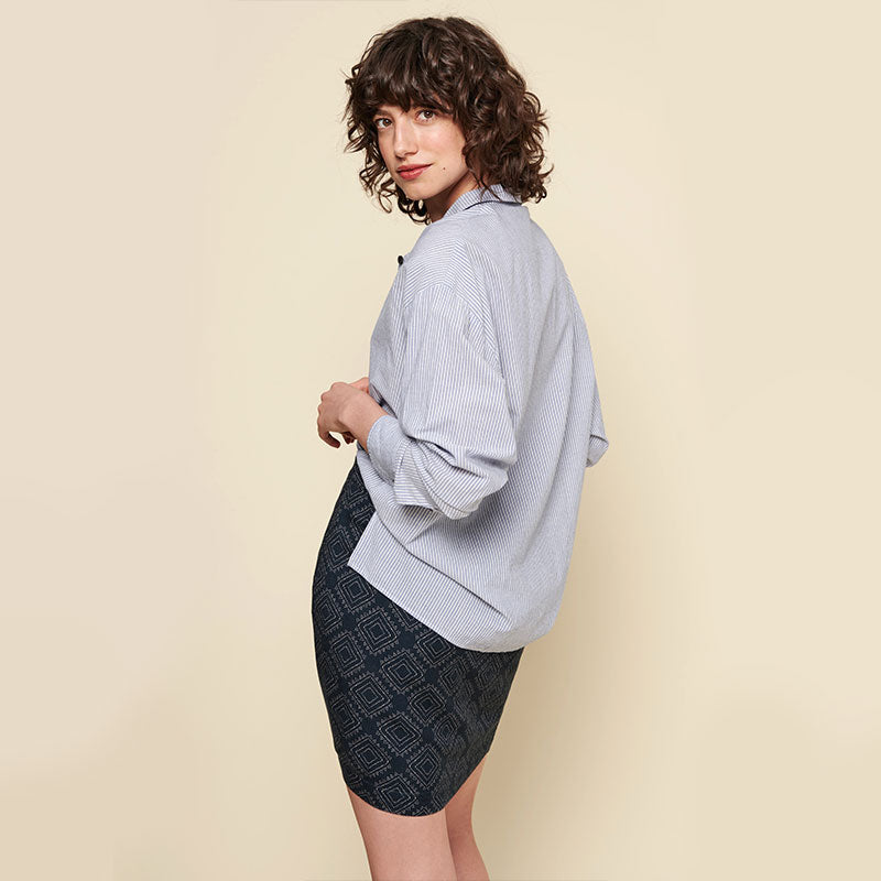 Acote, Acote Long sleeve shirt - Rayures blees, Tops, Coast Modern