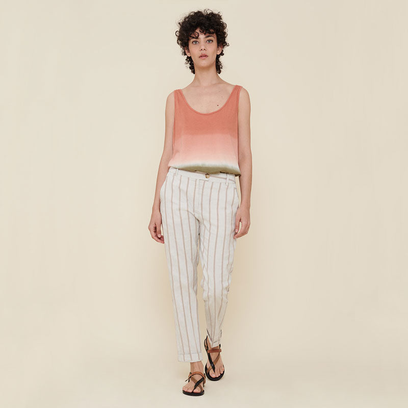 Acote,  Bottoms & Denim,  Acote High waist striped pants - Rayures Roses, - Coast Modern