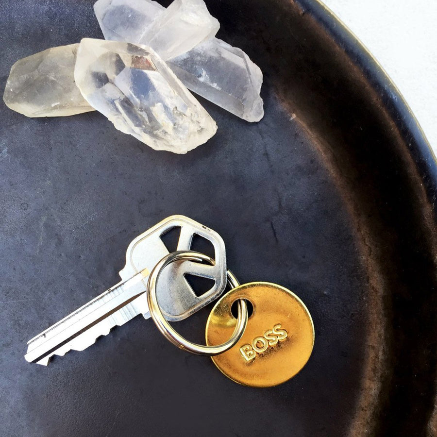 Boss Small Brass Keychain - Coast Modern