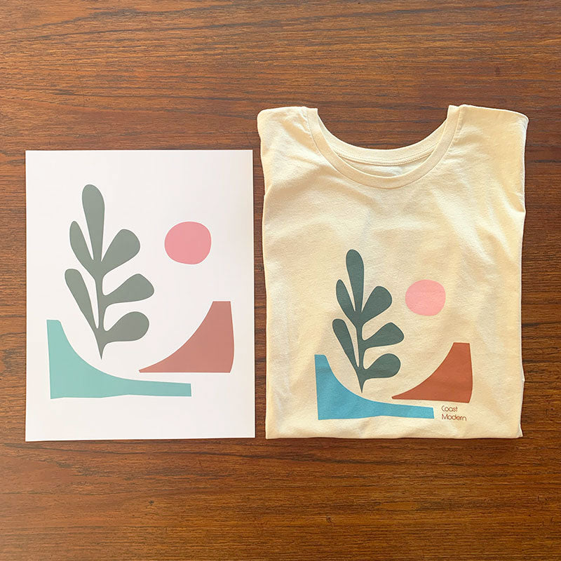 Cotton Links,  Tops,  Coast Modern Baja Tee - Ecru, - Coast Modern