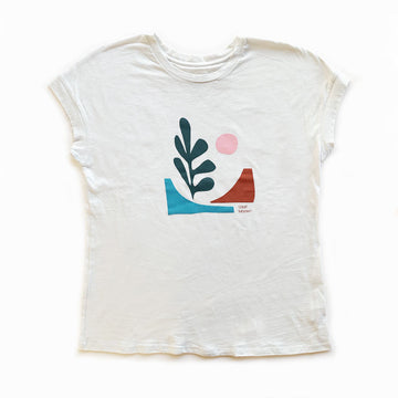 Cotton Links,  Tops,  Coast Modern Baja Tee - White, - Coast Modern