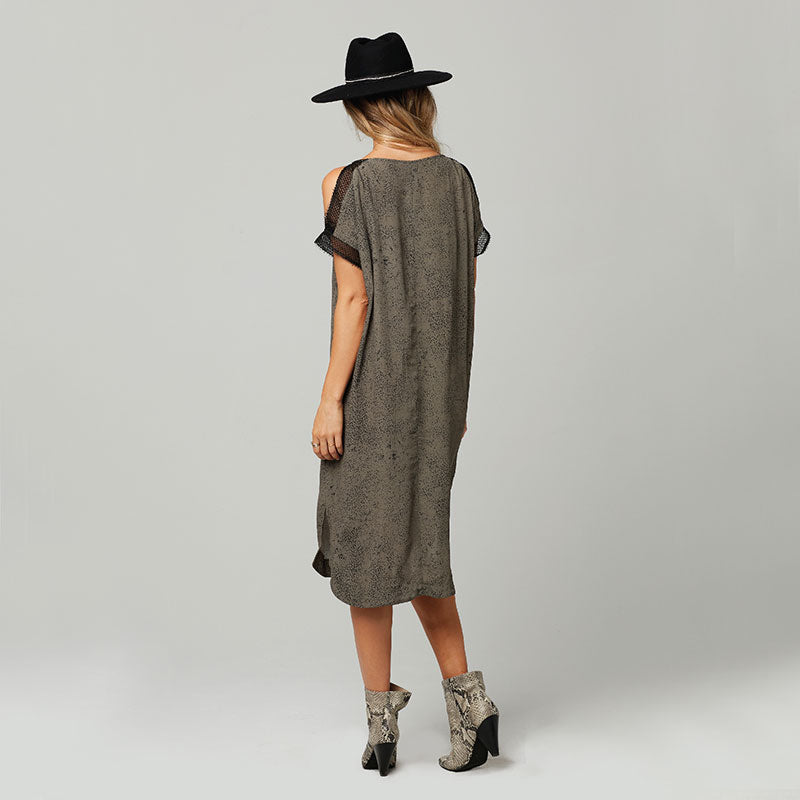 Knot Sisters, Knot Sisters Beth Dress - Olive Black Moon Dust, Dresses, Coast Modern