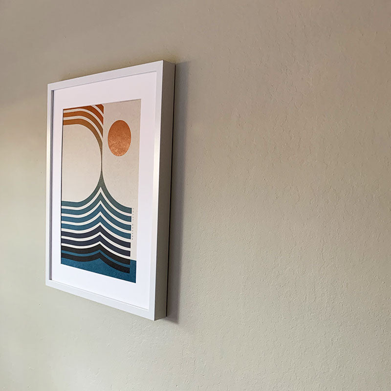 Coast Modern,  Furniture & Decor,  Coast Modern Orange Sunset Poster Print - No Frame, - Coast Modern
