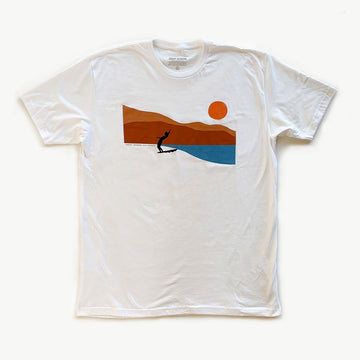 OC Screen Print, Coast Modern Cali Surfer Tee - White, Shirts, Coast Modern