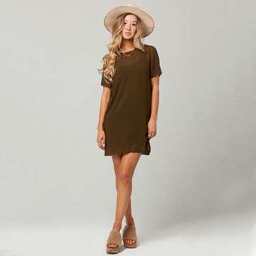 Knot Sisters Cici Dress - Military Green - Coast Modern