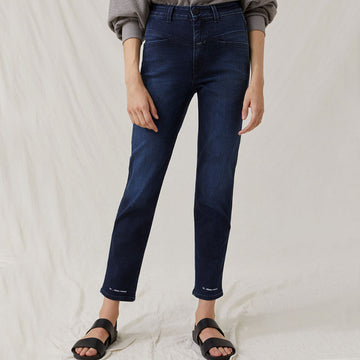 Closed Pedal Pusher Super Stretch Blue Denim - dark blue - Coast Modern