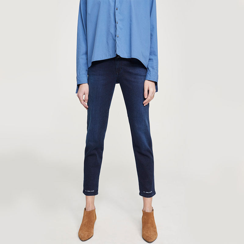 CLOSED,  Bottoms & Denim,  Closed Pedal Pusher Super Stretch Blue Denim - dark blue, - Coast Modern
