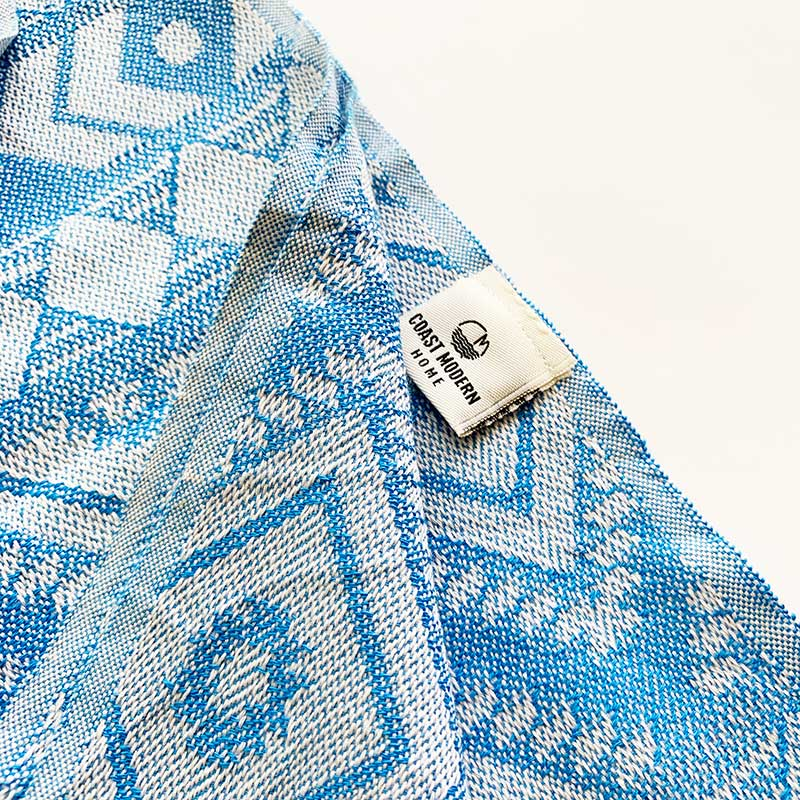 Rasim Arabaci,  Textiles,  Coast Modern Turkish Towel - Zeki Blue, - Coast Modern