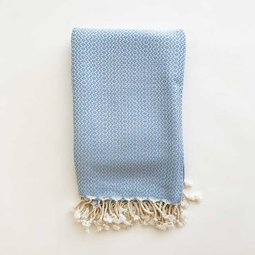 Rasim Arabaci,  Textiles,  Coast Modern Turkish Towel - Hulya  Blue, - Coast Modern