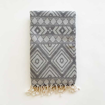 Rasim,  Textiles,  Coast Modern Turkish Towel - Zeki Grey, - Coast Modern