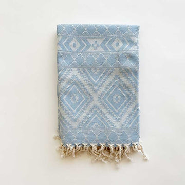Rasim Arabaci,  Textiles,  Coast Modern Turkish Towel - Zeki Light Blue, - Coast Modern