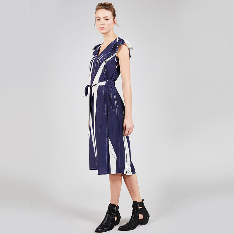 Cotelac,  Dresses,  Cotélac Sleeveless tie dress - Geometrie Variable, - Coast Modern