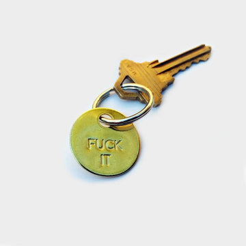 Objects,  Fuck it Small Brass Keychain, - Coast Modern