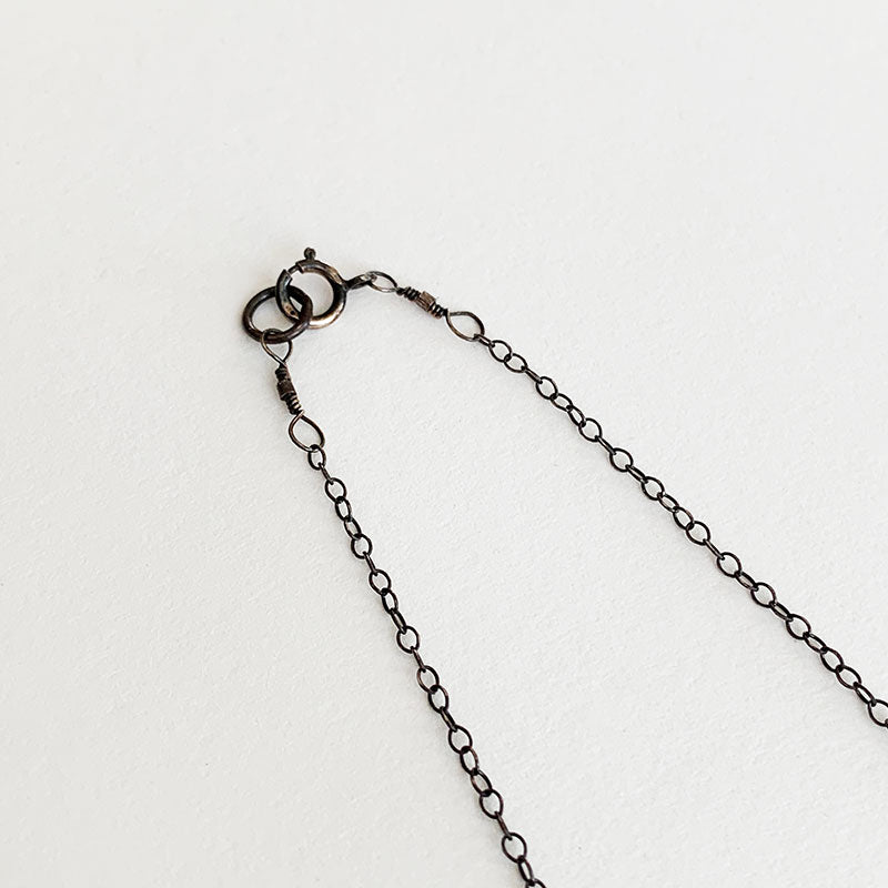 Nancy Yuan,  Jewelry,  Triple Geometric Necklace Oxidized Silver, - Coast Modern