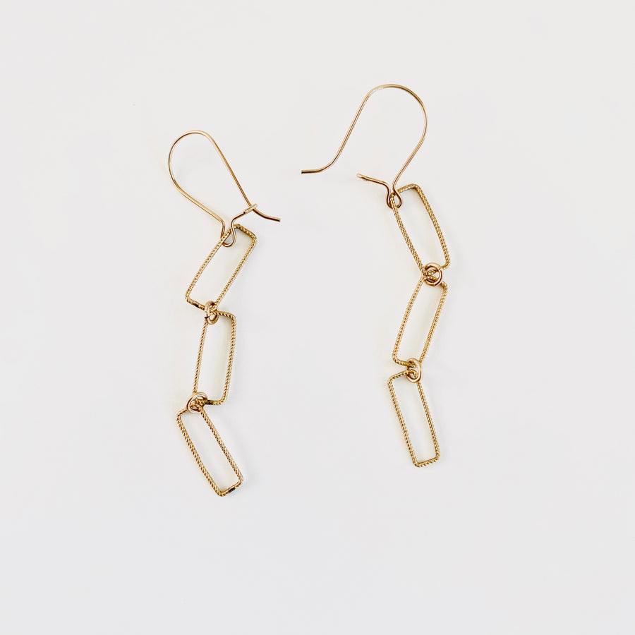 Nancy Yuan,  Jewelry,  Geometric Dangle Earrings Gold Fill, - Coast Modern
