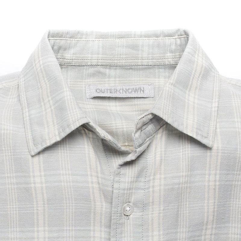 Outerknown,  Shirts,  Outerknown Highline shirt - Vapor blue shady plaid, - Coast Modern