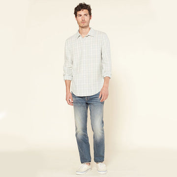 Outerknown Highline shirt - Vapor blue shady plaid - Coast Modern