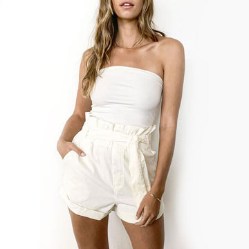 Knot Sisters,  Bottoms & Denim,  Knot Sisters Jade Short - Cream, - Coast Modern