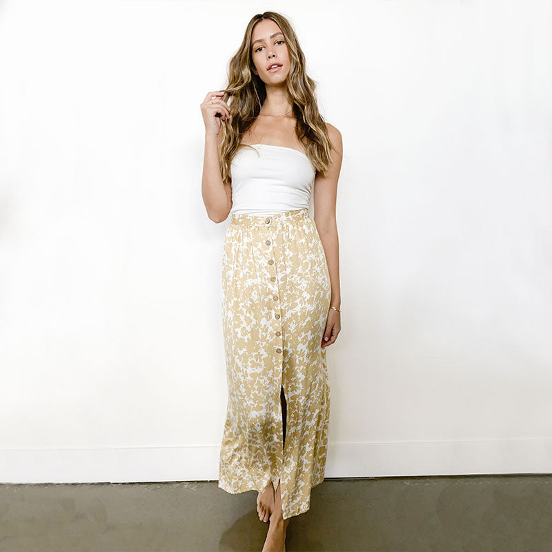 Knot Sisters,  Dresses,  Knot Sisters Dixie skirt - Gold, - Coast Modern