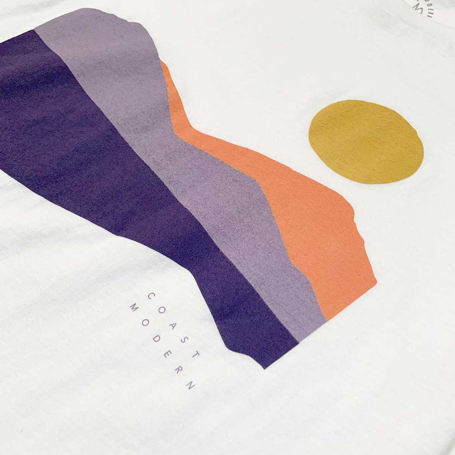 OC Screen Print, Coast Modern Landscape tee - white, Tops, Coast Modern