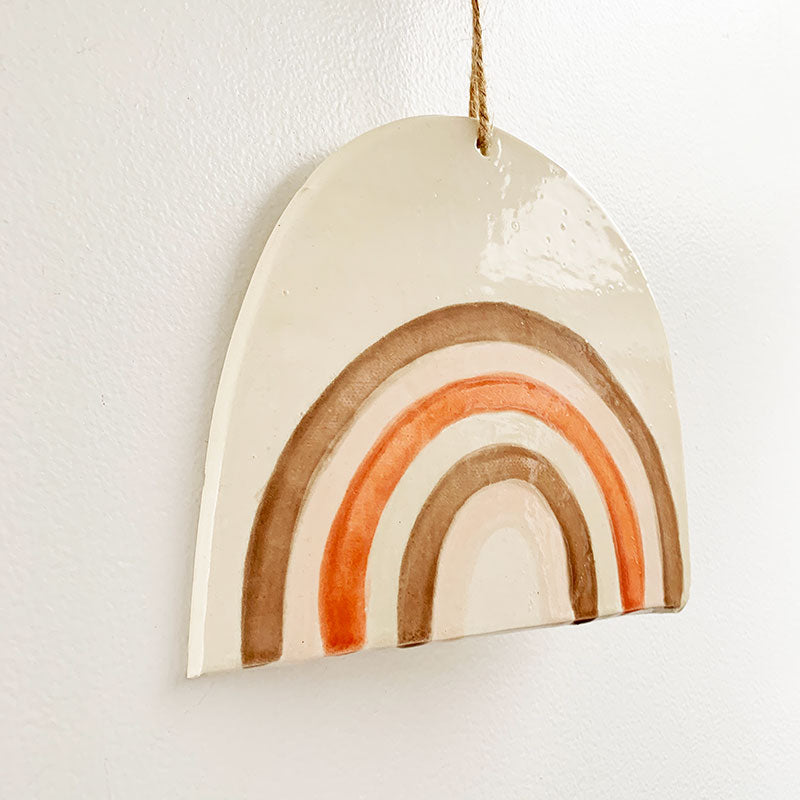 Luna Reece Ceramics,  Furniture & Decor,  Luna Reece Single Rainbow Wall Hanging, - Coast Modern