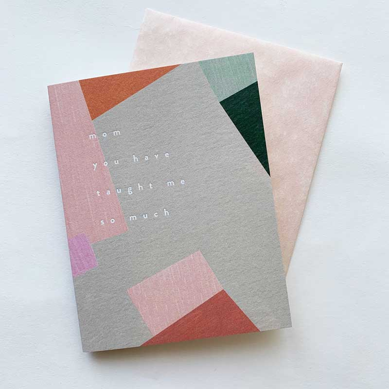 Moglea,  Books & Cards,  Mom taught me - pink, - Coast Modern