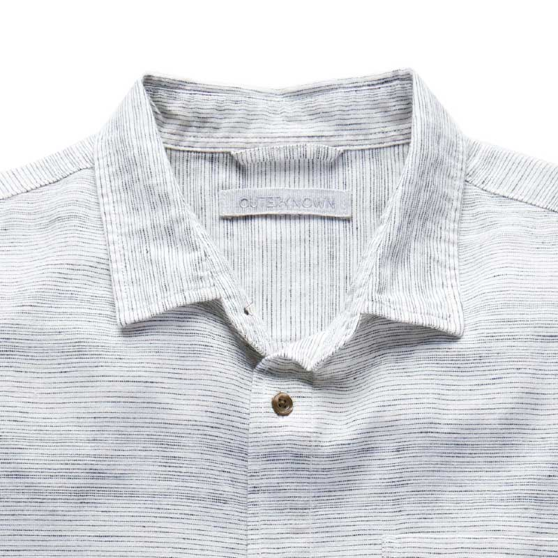 Outerknown,  Shirts,  Outerknown S.E.A. S/S Shirt - Marine Mirage Stripe, - Coast Modern