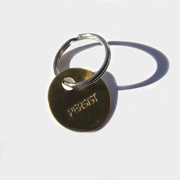 Chaparral,  Objects,  Persist Small Brass Keychain, - Coast Modern