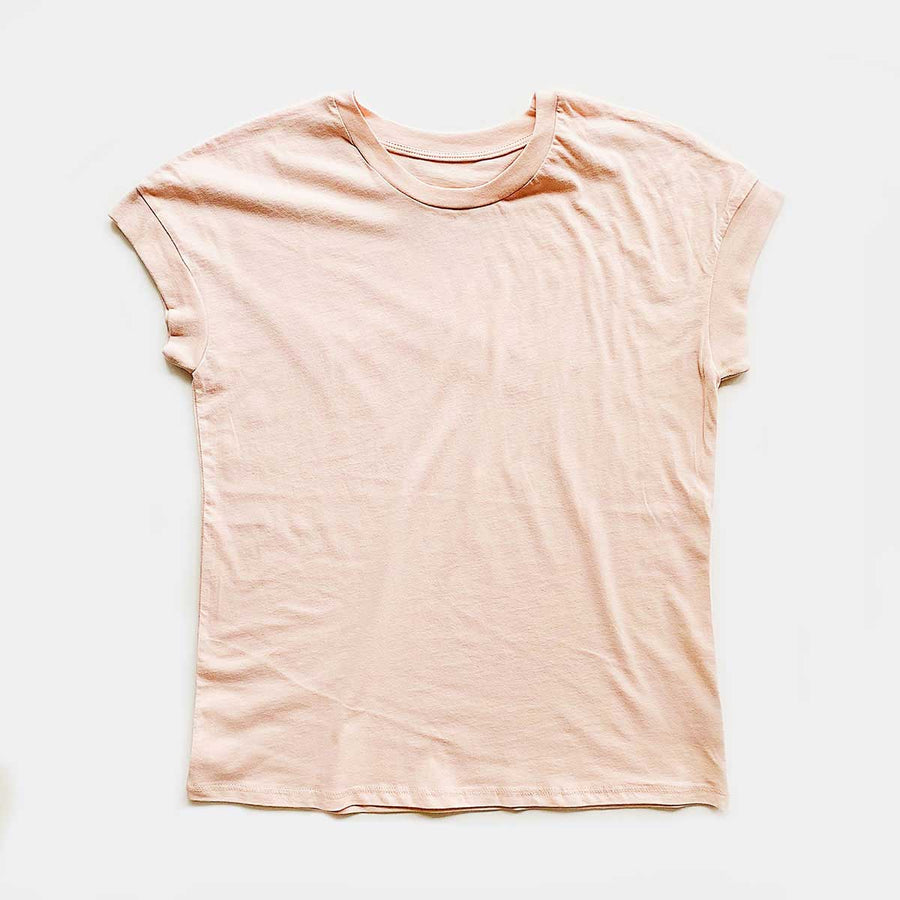 Cotton Links,  Tops,  Coast Modern Robby Tee - Rose, - Coast Modern