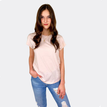 Cotton Links, Coast Modern Robby Tee - Rose, Tops, Coast Modern
