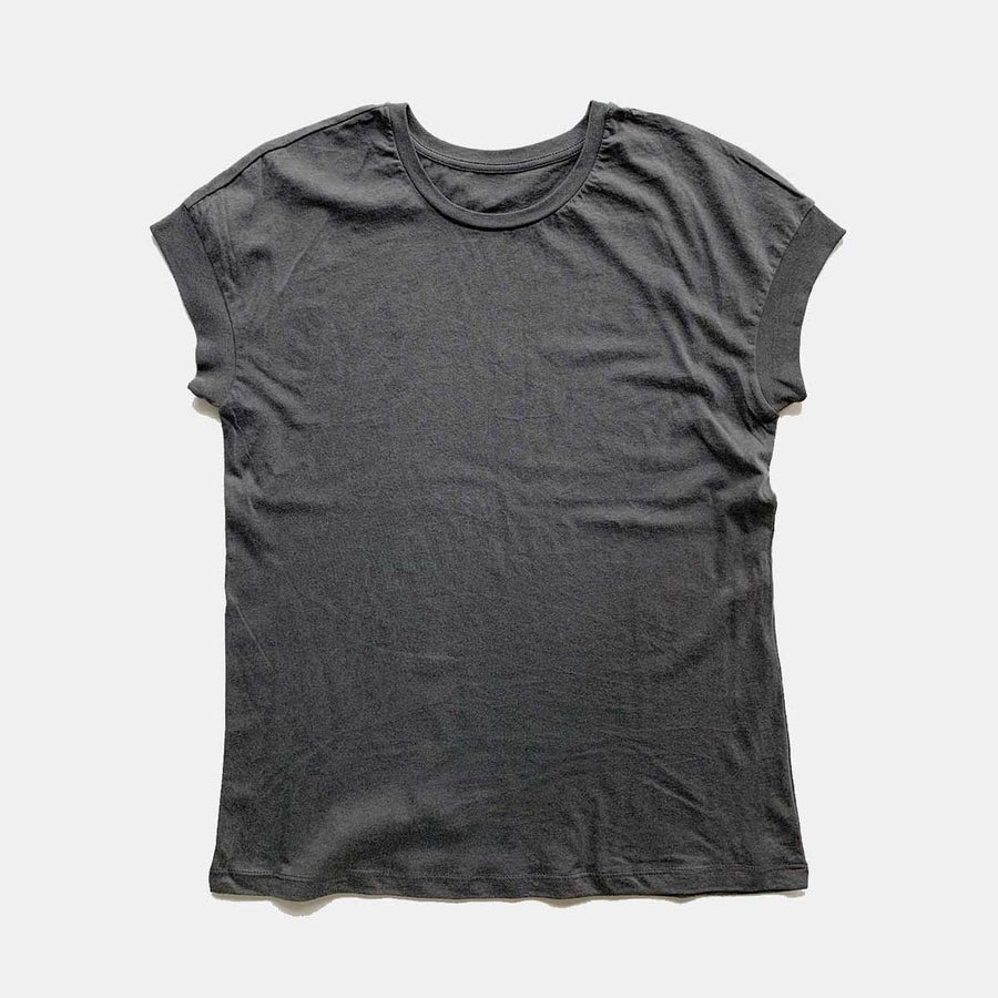 Cotton Links,  Tops,  Coast Modern Robby Tee - Charcoal, - Coast Modern
