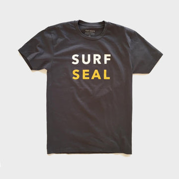 Shirts,  Coast Modern Surf Seal Tee Charcoal, - Coast Modern