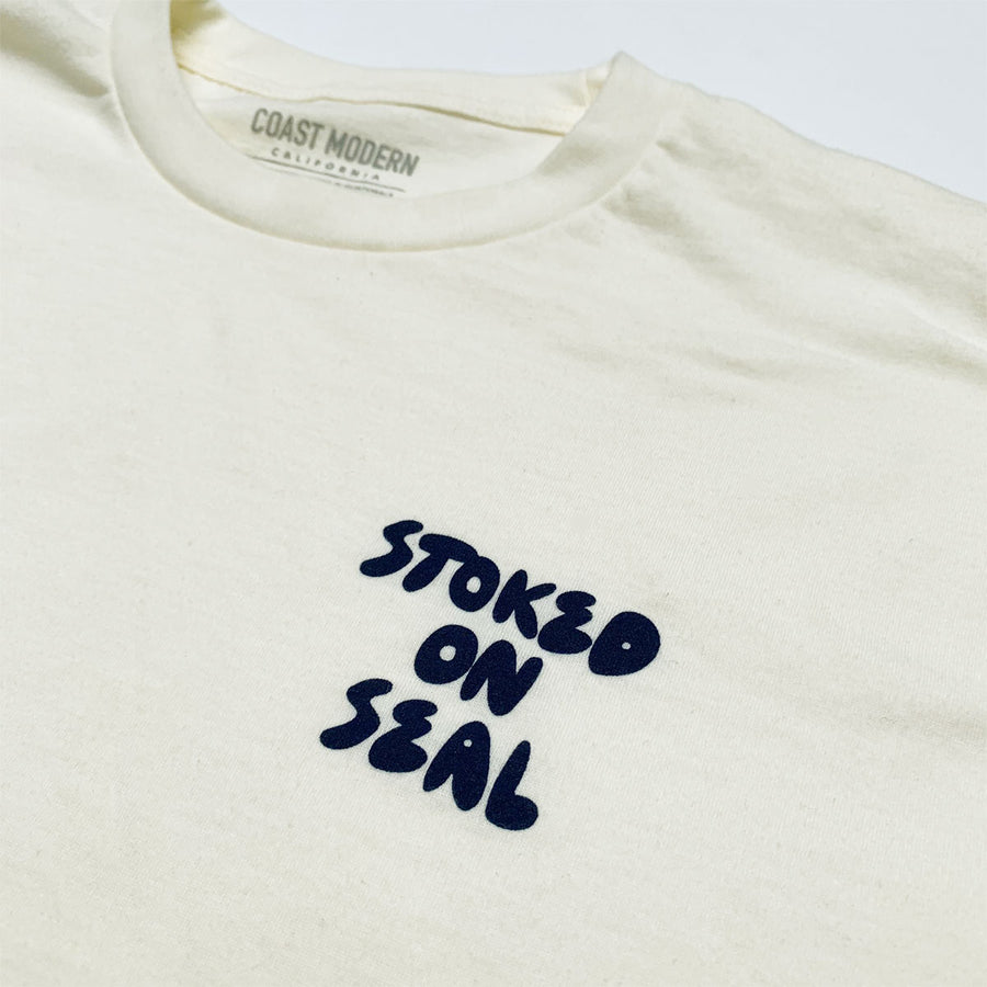 OC Screen Print, Coast Modern Stoked Tee - Natural, Shirts, Coast Modern