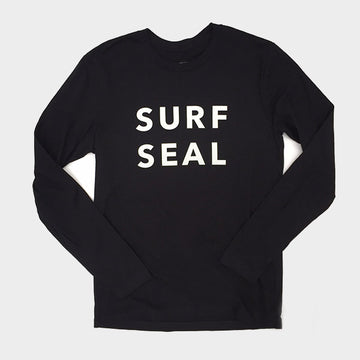 OC Screen Print, Coast Modern L/S Surf Seal Tee - Black, Shirts, Coast Modern