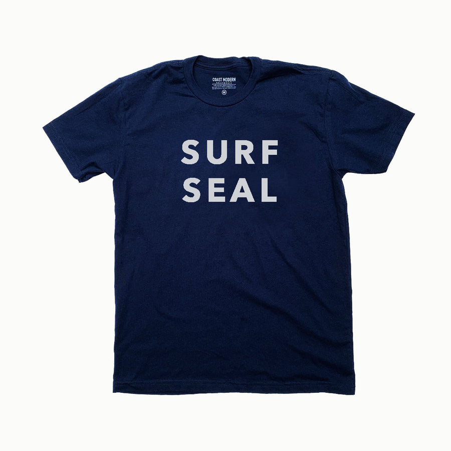 OC Screen Print,  Shirts,  Coast Modern Surf Seal Tee - Navy, - Coast Modern
