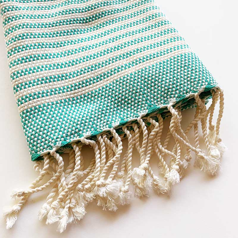 Rasim,  Textiles,  Turkish Towel Small - Hayal Turquoise, - Coast Modern
