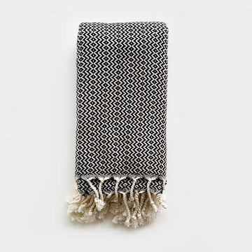 Rasim Arabaci,  Textiles,  Coast Modern Turkish Towel - Hulya Black, - Coast Modern