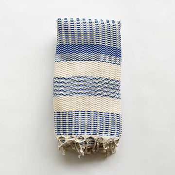 Rasim Arabaci,  Textiles,  Coast Modern Turkish Towel  - Koray Navy, - Coast Modern