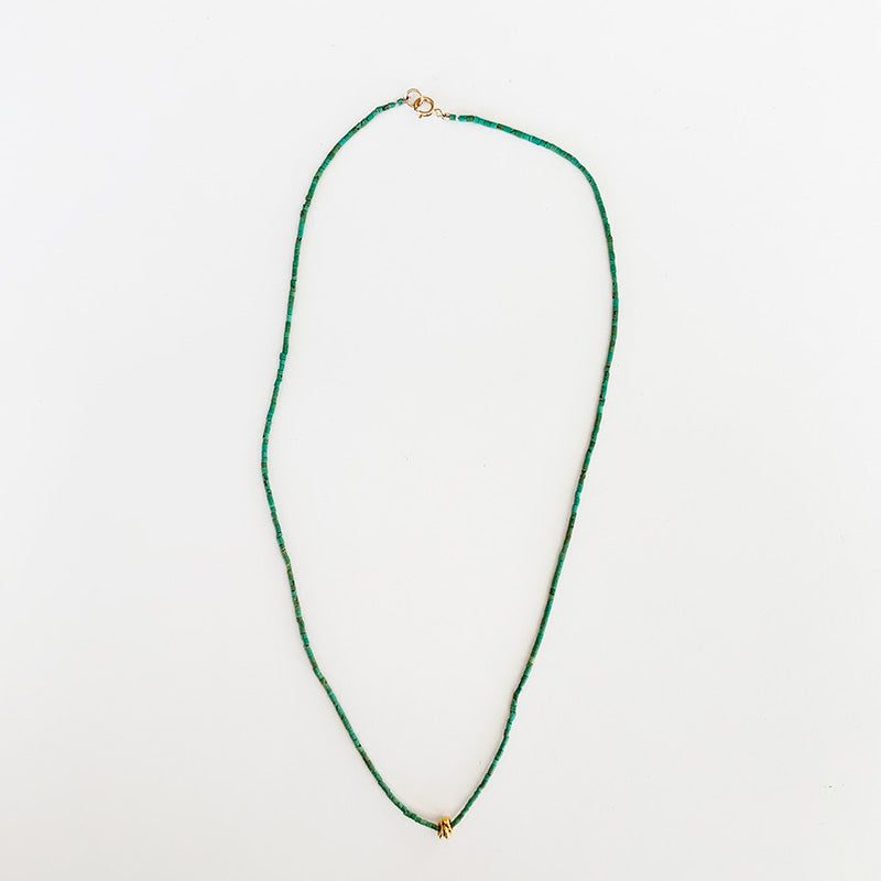 Nancy Yuan,  Jewelry,  Turquoise Necklace with 18kt gold beads, - Coast Modern
