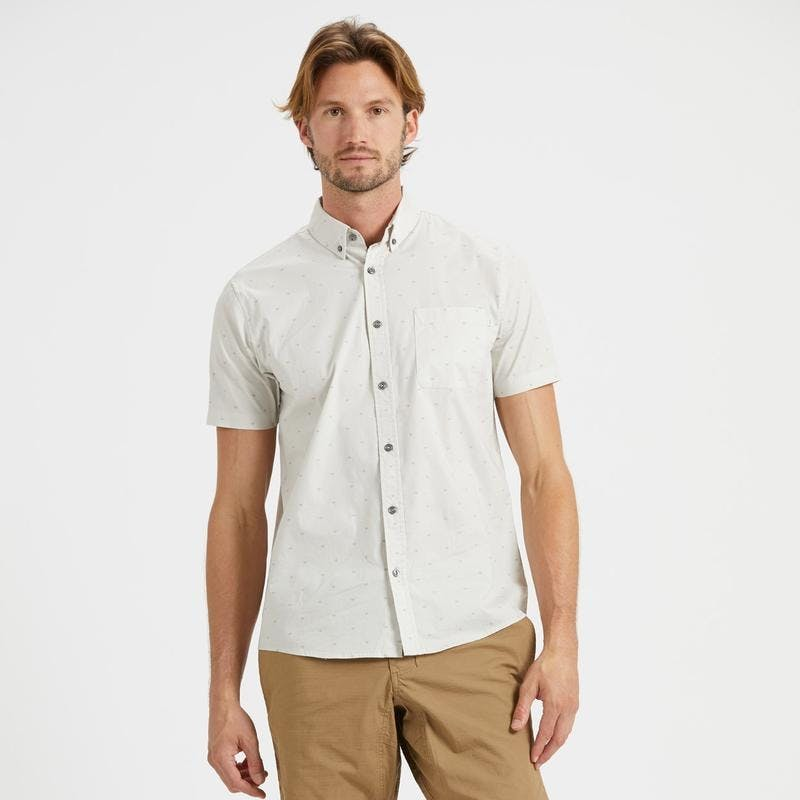 Vuori,  Shirts,  Vuori Crest Short Sleeve button down - Down Salt Arrow, - Coast Modern