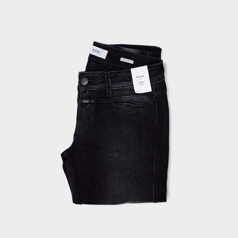 CLOSED,  Bottoms & Denim,  Closed Pedal Star  - Black Faded Wash, - Coast Modern